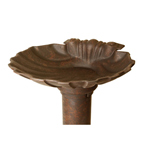Williamsburg - Weathered Bronze Shell Birdbath