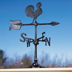 "Whitehall - Black 24"" Rooster Accent Weathervane"