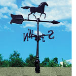 "Whitehall - Black 24"" Horse Accent Weathervane"