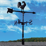 Whitehall - Black 30&quot; Rooster Accent Weathervane