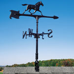 Whitehall - Black 30&quot; Horse Accent Weathervane
