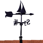 "Whitehall - Black 24"" Sailboat Accent Weathervane"
