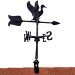 "Whitehall - Black 24"" Duck Accent Weathervane"