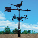 "Whitehall - Black 24"" Pheasant Accent Weathervane"