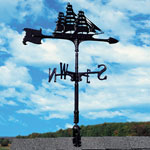 Whitehall - Black 30&quot; Clipper Accent Weathervane