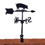 "Whitehall - Black 24"" Hog Accent Weathervane"
