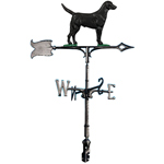 Whitehall - 30&quot; Black Lab Rooftop Weathervanes