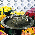 Whitehall - Hummingbird Sundial Bird Bath