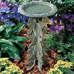 Whitehall - Butterfly Bird Bath &amp; Pedestal
