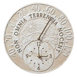 Whitehall - Fossil Celestial Thermometer Outdoor Clocks