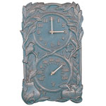 Whitehall - Fruit &amp; Bird Outdoor Clock &amp; Thermometer Combos