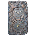 Whitehall - Cardinal Outdoor Clock &amp; Thermometer Combos