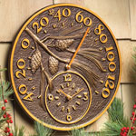 Whitehall - Antique Copper Pinecone Thermometer Clock