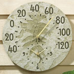 Whitehall - Fossil Sumac Thermometer Clock