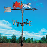 "Whitehall - 30"" Fire Engine Rooftop Weathervanes"