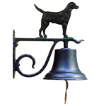 Whitehall - Large Bell with Black Lab