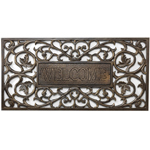 Whitehall - French Bronze Filigree Welcome Rectangle Door Mat