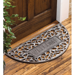 Whitehall - Pewter Silver Filigree Arch Welcome Door Mat