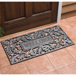 Whitehall - Pewter Silver Oakleaf Welcome Door Mat
