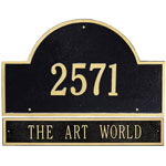 Whitehall - 2 Line Arch Address Plaque With Extension