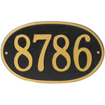 Whitehall - 1 Line Oval Round Address Plaque