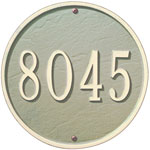 Whitehall - 1 Line 9&quot; Round Address Plaque