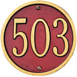 Whitehall - 1 Line 6&quot; Round Address Plaque