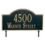 Whitehall - 2 Line Two Sided Arch Lawn Address Plaque