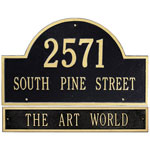 Whitehall - 3 Line Arch Address Plaque With Extension