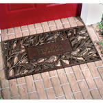 Whitehall - French Bronze Pinecone Personalized Door Mat