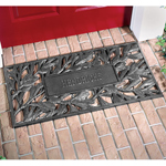 Whitehall - Pewter Silver Pinecone Personalized Door Mat