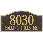 Whitehall - 2 Line Rolling Hills Address Plaque