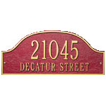 Whitehall - 2 Line Admiral Address Plaques