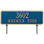 Whitehall - 2 Line Two-sided Rectangle Yard Address Plaques