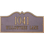 Whitehall - 2 Line Hillsboro Address Plaques