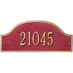 Whitehall - 1 Line Admiral Address Plaque