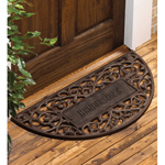 Whitehall - French Bronze Filigree Arch Personalized Door Mat