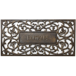Whitehall - French Bronze Filigree Rectangle Personalized Door Mat