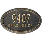 Whitehall - 2 Line Classic Concord Oval Address Plaques