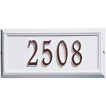 Whitehall - 1 Line Classic Springfield Rectangle Address Plaques