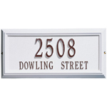 Whitehall - 2 Line Classic Springfield Rectangle Address Plaques