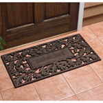 Whitehall - French Bronze Oakleaf Personalized Door Mat