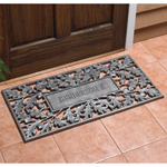 Whitehall - Pewter Silver Oakleaf Personalized Door Mat