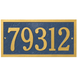 Whitehall - 1 Line Bismark Address Plaque