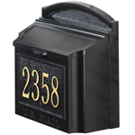 Whitehall - Wall Mount Personalized Black Residential Mailbox