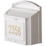 Whitehall - Wall Mount Personalized White Residential Mailbox
