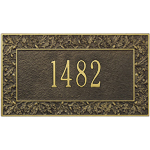 Whitehall - 1 Line Oakleaf Address Plaques