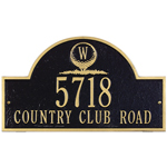Whitehall - 3 Monogram Golf Arch Address Plaques