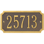Whitehall - 1 Line Cut Corner Address Plaque