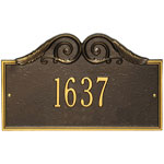 Whitehall - 1 Line Versailles Address Plaques